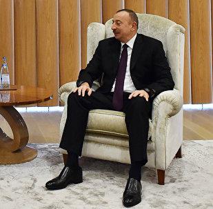 Встреча президента Азербайджана Ильхама Алиева с министром энергетики и природных ресурсов Турции Бератом Албайраком