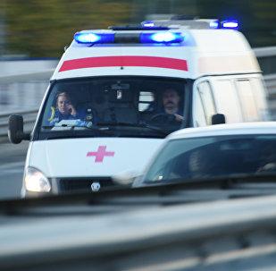 Moskvada təcili tibbi yardım maşını