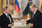Президент РФ Владимир Путин и президент Турции Реджеп Тайип Эрдоган (справа), фото из архива