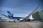 Самолет Boeing 787 Dreamliner компании Азербайджанские авиалинии, фото из архива