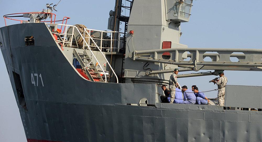 Флот Ирана начал учения вОрмузском проливе Оманском море иИндийском океане