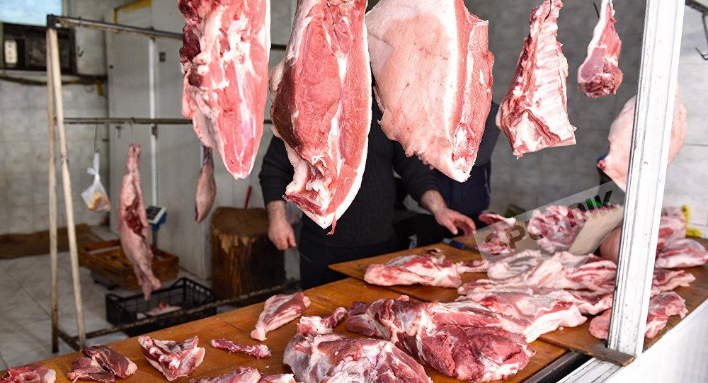 Продажа мяса в Баку, фото из архива
