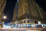 Ночной Баку, фото из архива