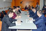 Круглый стол на тему Роль русскоязычных СМИ в освещении событий в Азербайджане