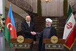 Azərbaycan və İran prezidentlərinin mətbuata bəyanatlarla çıxışı