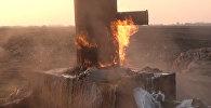 Gecələr dayanmadan yanan alov görənləri heyrətləndirir