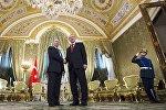 Türkiyə prezidenti Rəcəb Tayyib Ərdoğan Moskvada Rusiyanın dövlət başçısı Vladimir Putinlə