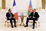 Президенты Франции Франсуа Олланд и Азербайджана Ильхам Алиев, архивное фото