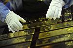 Золотые слитки - готовая продукция, фото из архива
