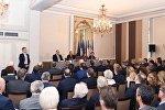 Президент Азербайджана Ильхам Алиев встретился с членами бизнес-совета Движения предприятий Франции