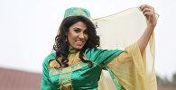 Азербайджанская спортсменка Айнур Мамедова в образе Бахар гызы
