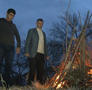 Азербайджанцы Карабаха празднуют Новруз на линии фронта