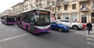 Движение транспорта в Баку, фото из архива