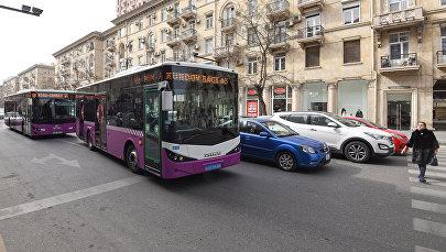 Маршрутные автобусы в Баку, фото из архива