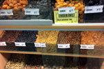 Цены на сухофрукты в одном из магазинов Баку