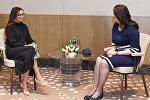 Первый вице-президент Азербайджана Мехрибан Алиева встретилась с первой леди Македонии Маей Ивановой