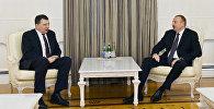 İlham Əliyevin Latviya Prezidenti Raymond Veyonis ilə görüşü olub