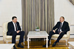 Ильхам Алиев встретился с президентом Латвии Раймондом Вейонисом