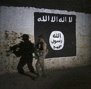 Иракский солдат осматривает железнодорожный туннель, который использовался боевиками ИГ в качестве тренировочного лагеря, Мосул, Ирак, 1 марта 2017 года
