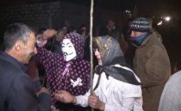 В азербайджанской деревне Новруз встретили маскарадом
