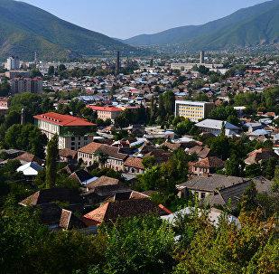 Вид на город Шеки, архивное фото