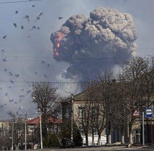 Взрывы на военной базе в Харьковской области, Украина, 23 марта 2017 года (НА ГЛАВНУЮ)