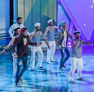 Выступление Сборной Баку в полуфинале КВН, фото из архива