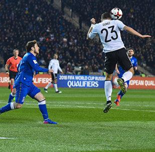 Футбольный матч между сборными Азербайджана и Германии в рамках отборочного этапа Чемпионата мира 2018 года