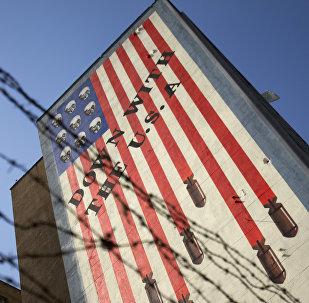 Антиамериканский плакат в Тегеране, фото из архива
