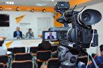 Мероприятие в международном мультимедийном пресс-центре Sputnik Азербайджан, архивное фото