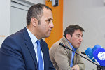 Турецкий публицист и политолог Йылмаз Алтунсой в международном мультимедийном пресс-центре Sputnik Азербайджан