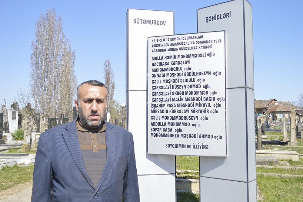 Sütəmurdov kənd sakini Hacı Fəxri Sadıqov