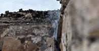Разрушенный в результате артобстрела дом в Агдамском районе Азербайджана