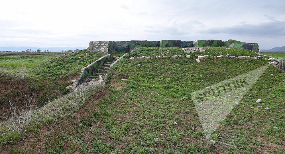 Укрепительные сооружения азербайджанской армии, фото из архива