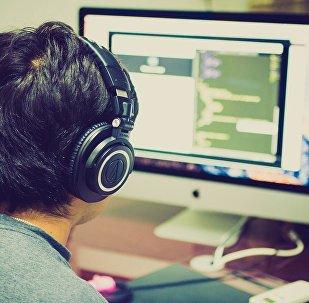 Пользователь интернета, фото из архива
