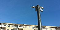 Камера автоматической фиксации нарушений правил дорожного движения на улице Микаила Мушфига в Баку