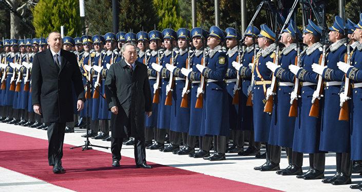 Qazaxıstan Prezidenti Nursultan Nazarbayevin rəsmi qarşılanma mərasimi