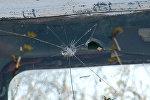 Traktorun qırılmış ön şüşəsi