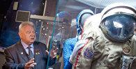 Открытие выставки Они были первыми, посвященной 50-летию первого полета человека в космос