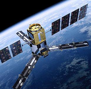 Спутник на орбите, фото из архива
