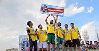 Игроки команды Ленко – финалиста регионального отбора футбольного турнира Neymar Jr's Five