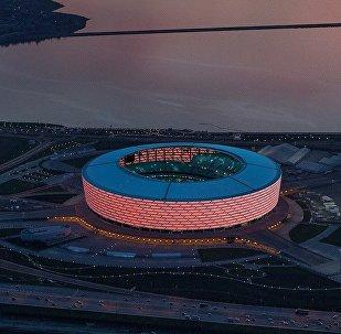 Вид на бакинский олимпийский стадион