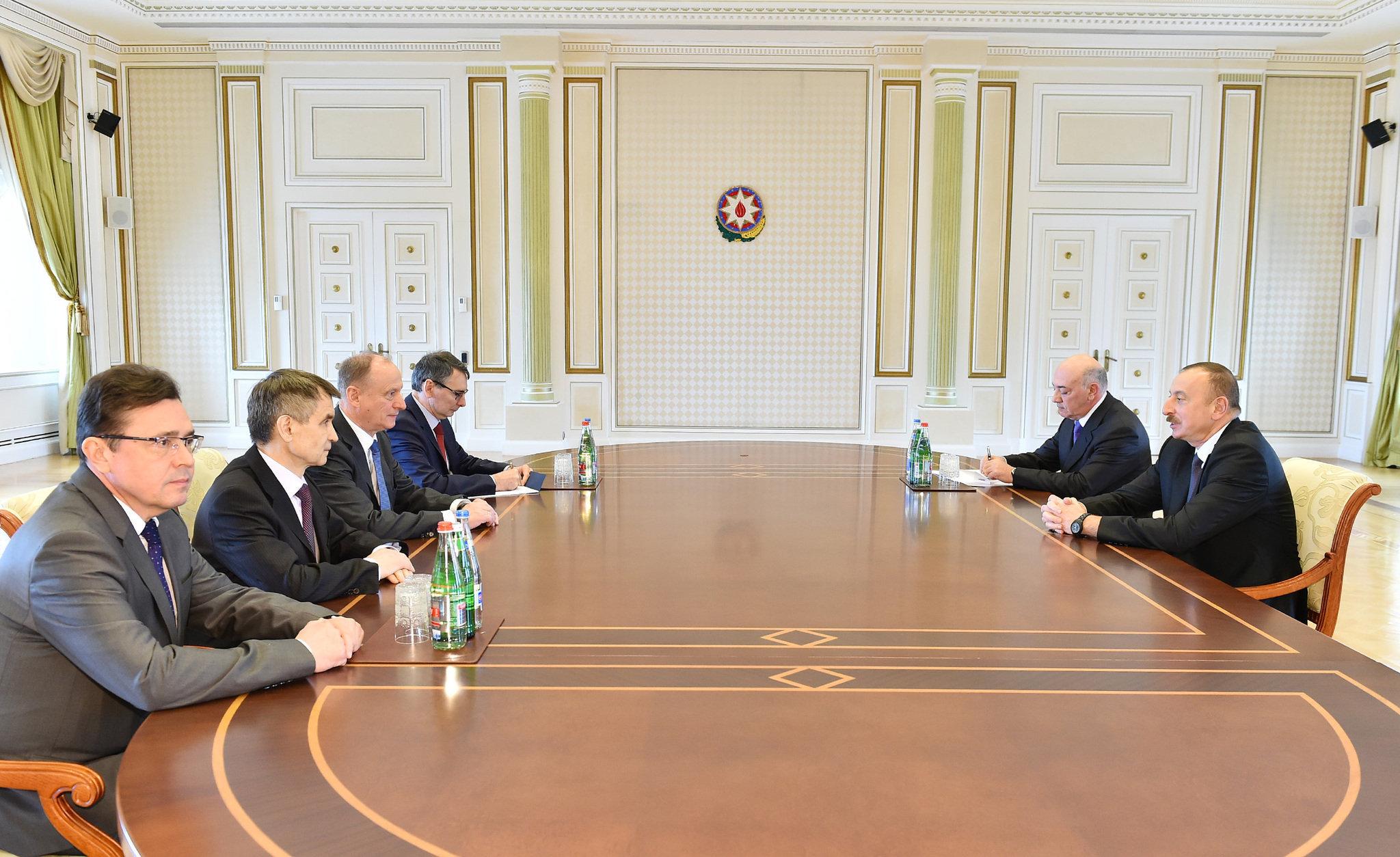 Алиев иПатрушев обсудили встолице Азербайджана вопросы безопасности