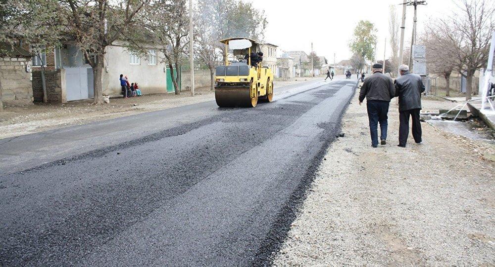 Реконструкция дороги, фото из архива