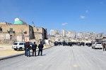 Ситуация возле мечети Гулубека Абдулрагимбекова в Баку