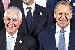 ABŞ Dövlət katibi Reks Tillerson və Rusiyanın Xarici işlər naziri Sergey Lavrov
