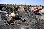 Последствия ракетного удара США по авиабазе в Сирии, фото из архива