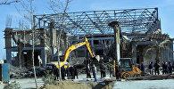 Обрушившееся недостроенное здание в Баку