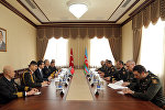 Встреча генерал-полковника Закира Гасанова с с командующим ВМС Турции адмиралом флота Бюлентом Бостаноглу