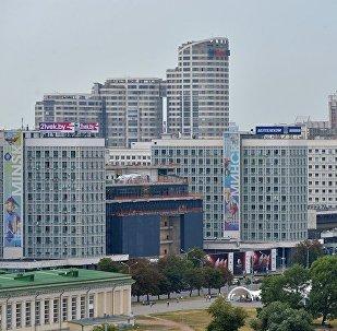 Вид на город Минск, фото из архива